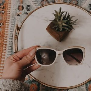 {Anthropologie} cream boho minimalist sunglasses